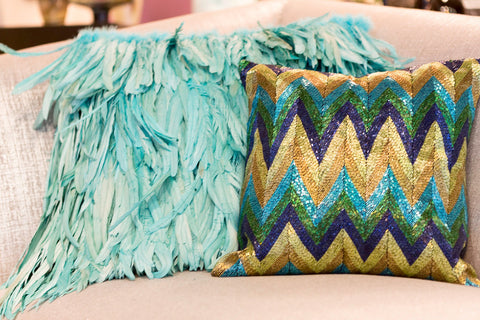 Chevron Multi Stripe Pillow - Sabira Collection