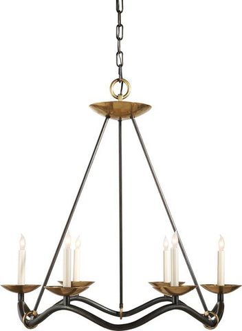 Choros Aged Iron Chandelier - Visual Comfort