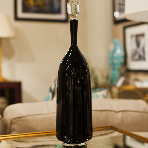 Classic Black Tall Decanter - Joe Cariati