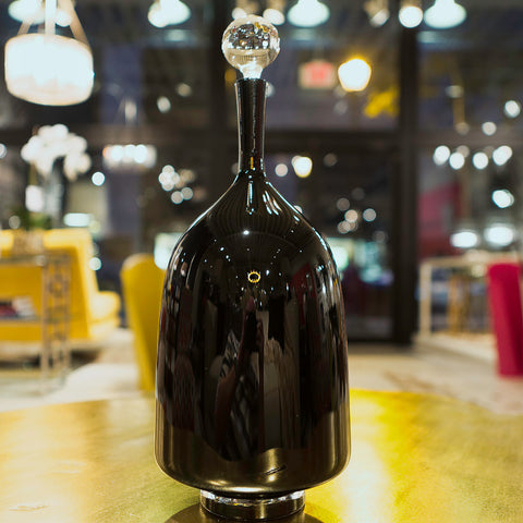 Classic Black Wide Decanter - Joe Cariati