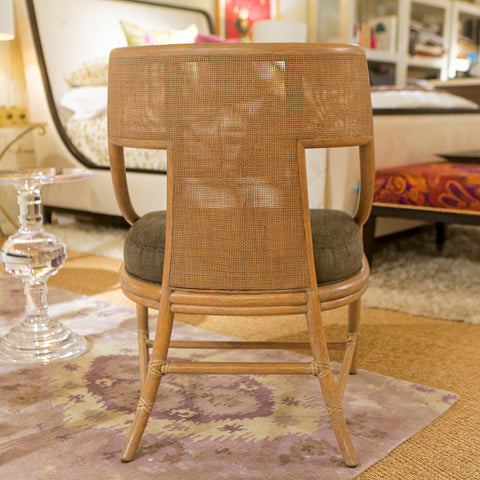 Classic caned klismos chair baker furniture luxe home for Affordable furniture in baker