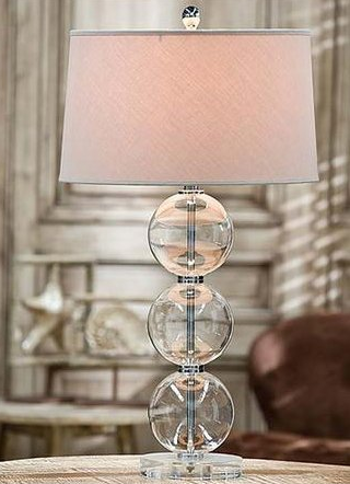 Clear Glass Ball Lamp - Regina Andrew
