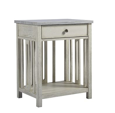 Coastal Living Bedside Table w/Stone Top - Universal