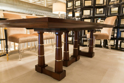 column dining table baker furniture luxe home philadelphia