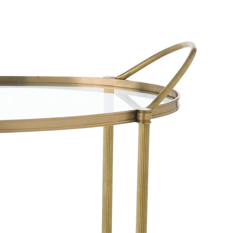Connaught Brass Bar Cart - Arteriors Home