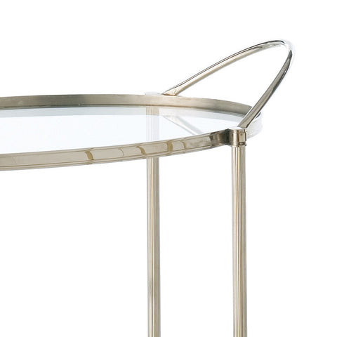 Connaught Nickel Bar Cart - Arteriors Home