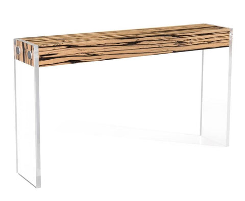 Aristar Concole Table in White Ebony - John-Richard