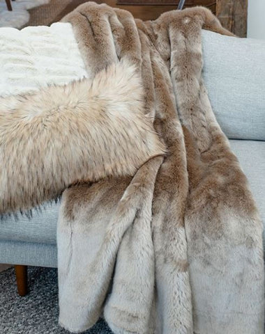 Couture Collection Champagne Mink Throw - Fabulous Furs