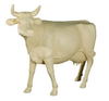 Life Size Cow, Head Up, Off-White - Phillips Collection