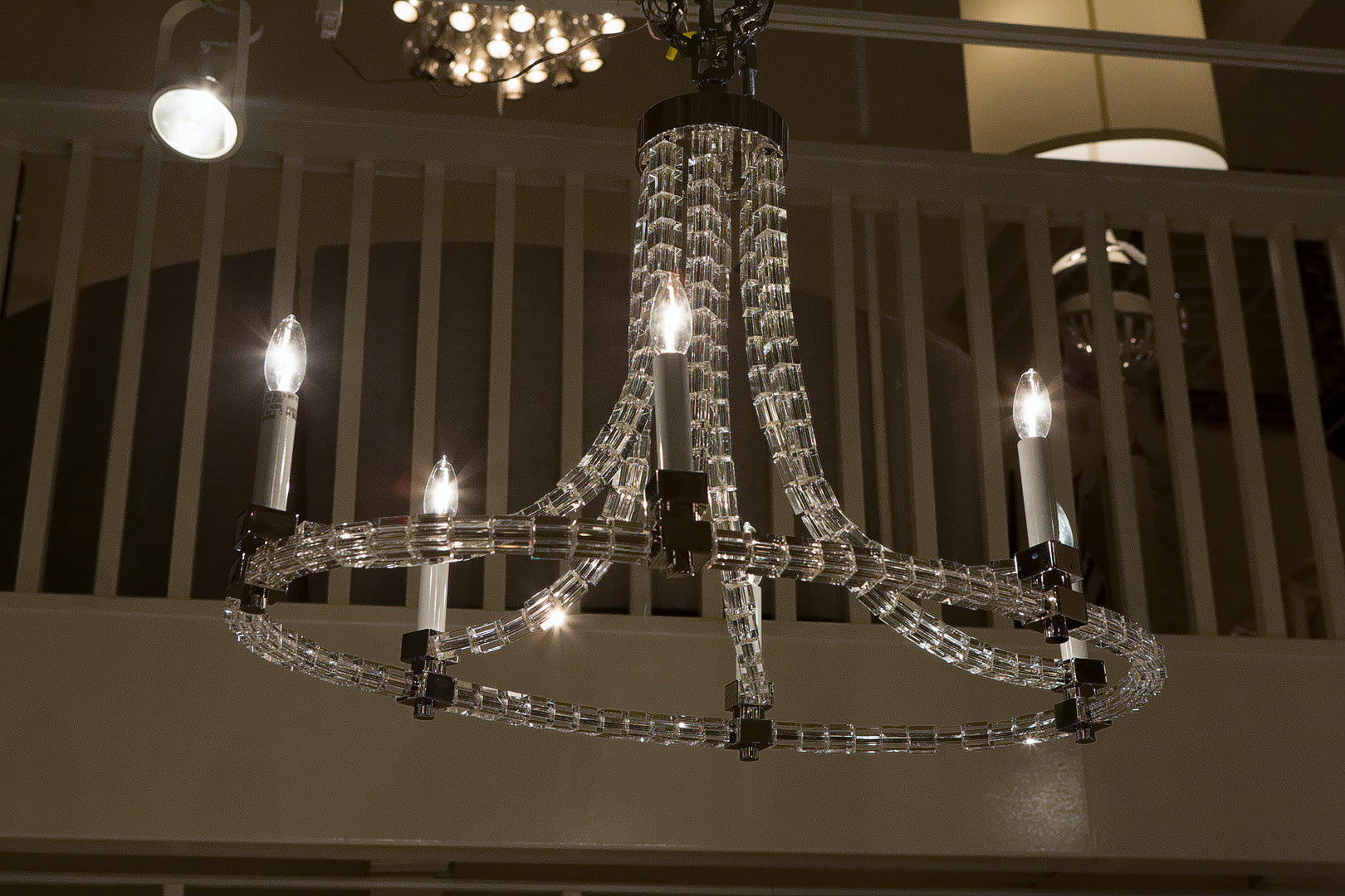 Crystal cube oval flatline chandelier visual comfort luxe home crystal cube oval flatline chandelier visual comfort arubaitofo Choice Image