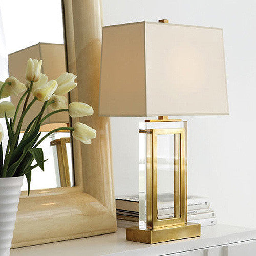 Crystal Panel Table Lamp Visual Comfort Luxe Home Philadelphia