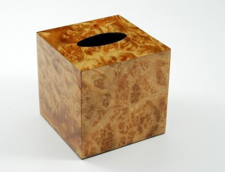 Cube Tissue Box Cover Walnut Burl - Pacific Connections