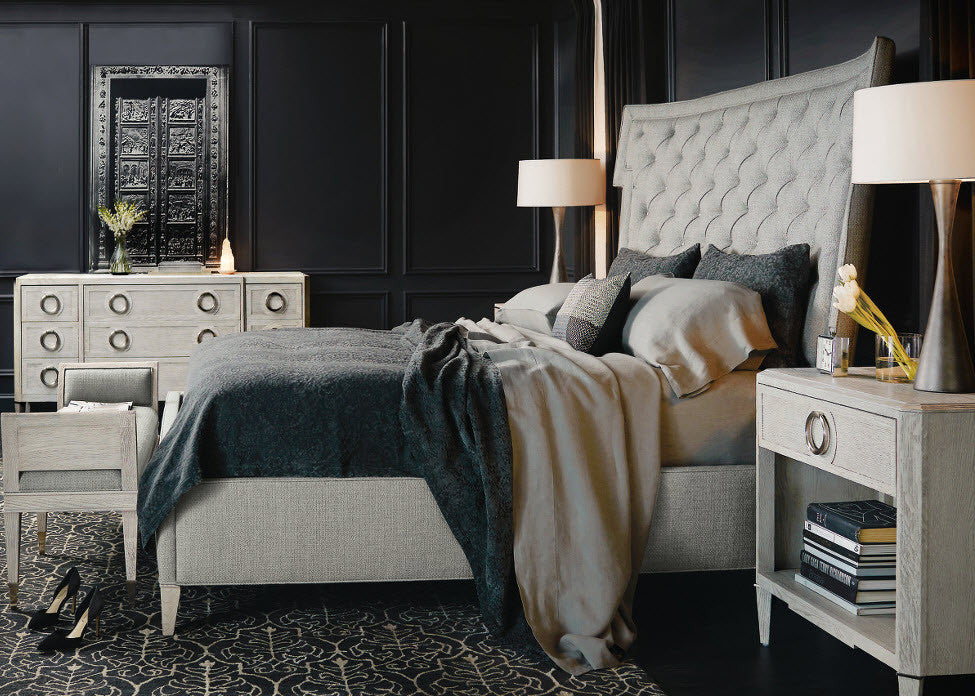 Domaine Blanc Upholstered King Bed   Bernhardt Furniture