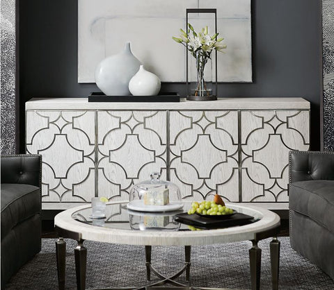 Domaine Blanc Entertainment Console   Bernhardt Furniture