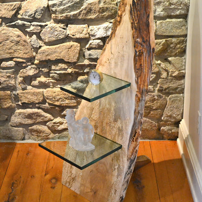 Cantilvered Maple Glass Shelf - Wood Shop