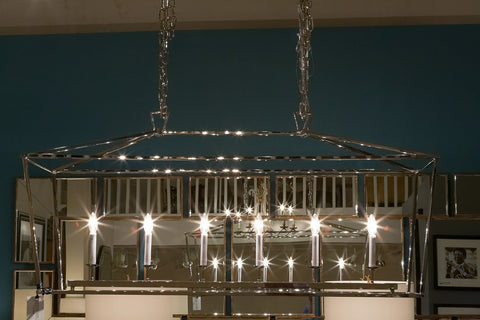 Darlana Linear Nickel Pendant - Visual Comfort
