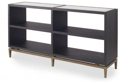 Declichy Console/Bookcase Black Crocodile - Mr. Brown London