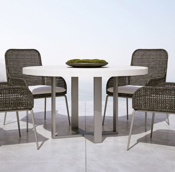 Del Mar Round Dining Table Bernhardt Outdoor Luxe Home Philadelphia