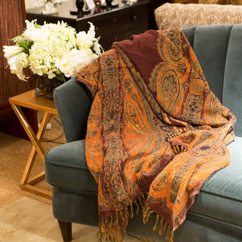 Desiree Boiled Wool Throw - Sabira Collection