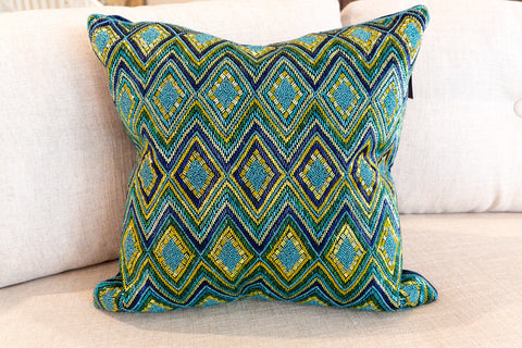 Diamond Design Fully Beaded Pillow - Sabira Collection