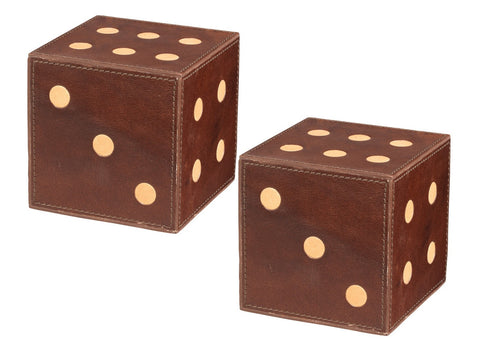 Leather Dice Tobacco - Jamie Young