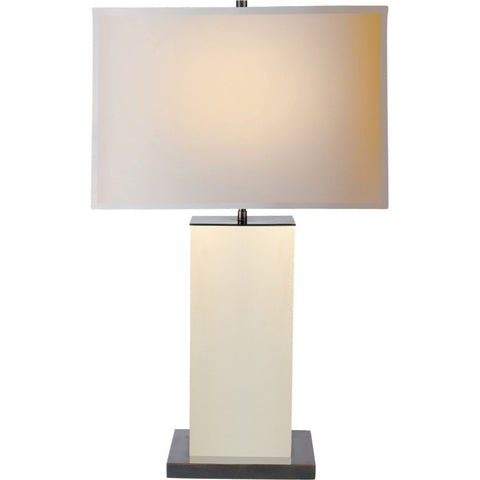 Dixon Tall Leather Table Lamp - Visual Comfort