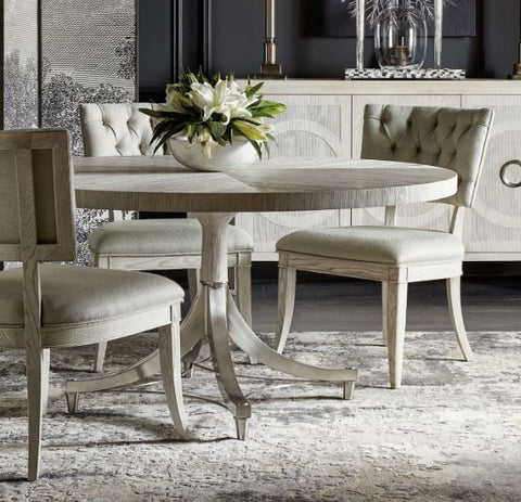 Domaine Blanc Round Dining Table   Bernhardt Furniture