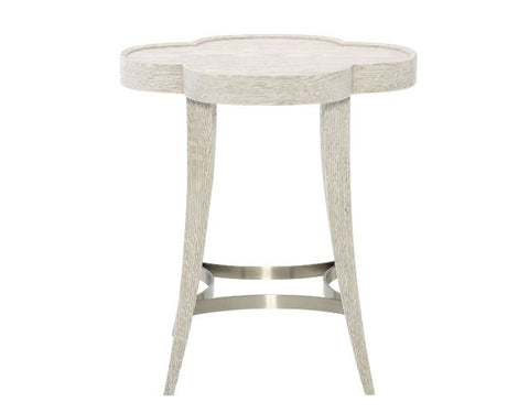 Domaine Blanc Chairside Table - Bernhardt Furniture
