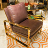 Dorwin Chair in Chocolate Leather - Bernhardt Furniture