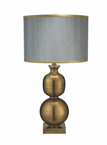 Double Ball Brass Table Lamp - Jamie Young
