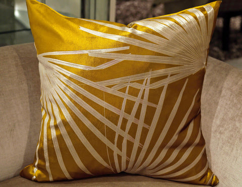 Drive On Lemon Leaf Pillow - Aviva Stanoff Design