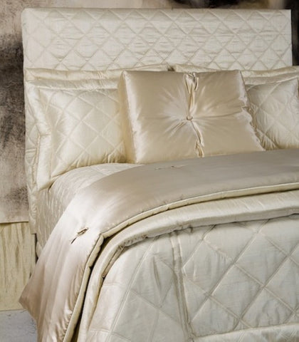 Dupione Big Diamond Queen Quilt Coverlet - Ann Gish