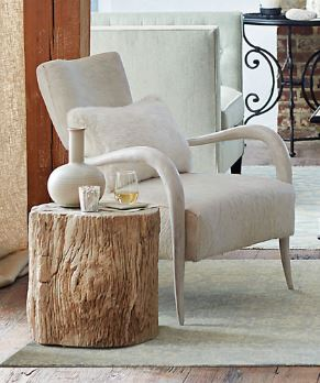 Elka Chair Dark Brown Faux Horn - Bernhardt Interiors