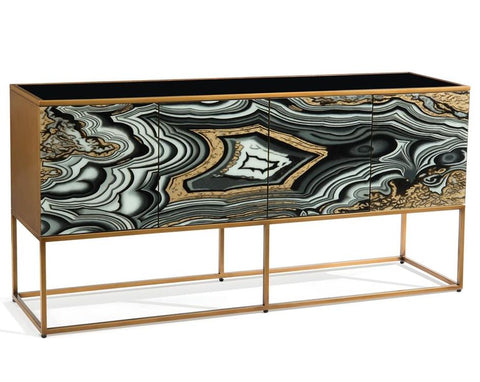 I Dream Of Agate 4-Door Cabinet - John-Richard