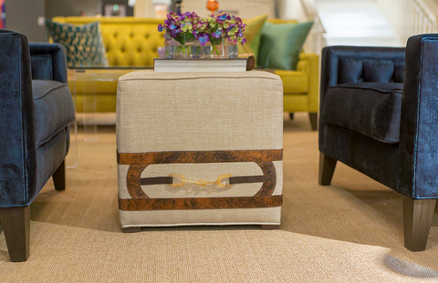 Equus Square Buckle Ottoman - V Rugs & Home