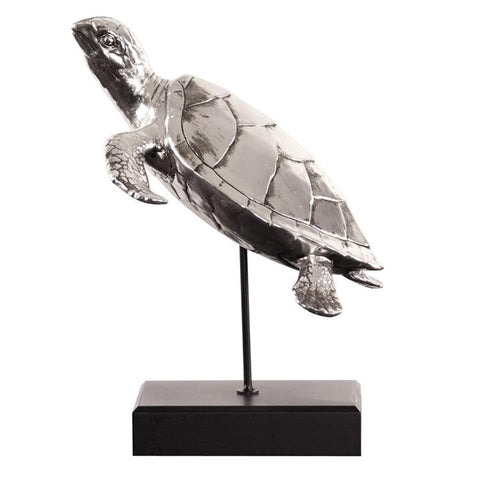 Electroplated Sea Turtle Sculpture - Howard Elliott Collection