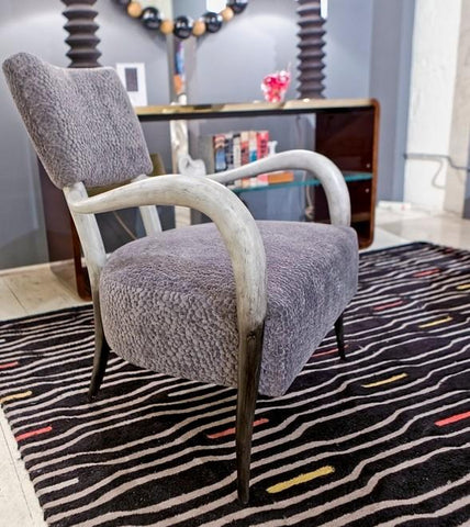 Elka Dark Brown Faux Horn Chair - Bernhardt Interiors
