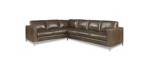 Corwin Leather Sectional - Precedent Furniture