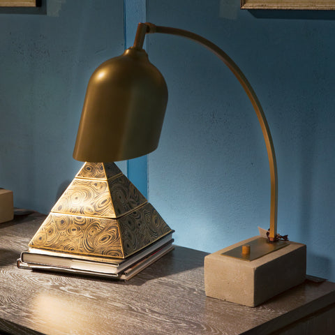 Eureka Antique Brass Lamp / Concrete Base - Regina-Andrew Design