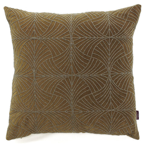 Evin Fans Brown Accent Pillow - Sabira Collection
