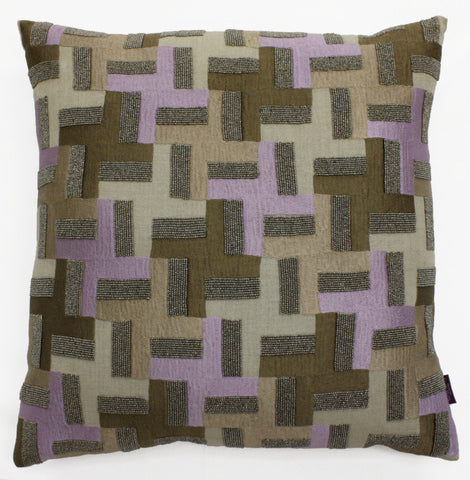 Evin Houndstooth Accent Pillow - Sabira Collection