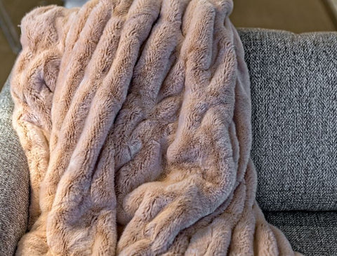 Rose Mink Couture Collection Throw - Fabulous Furs