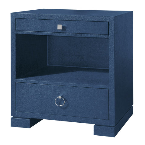 Frances 2 Drawer Side Table, Blue - Bungalow 5