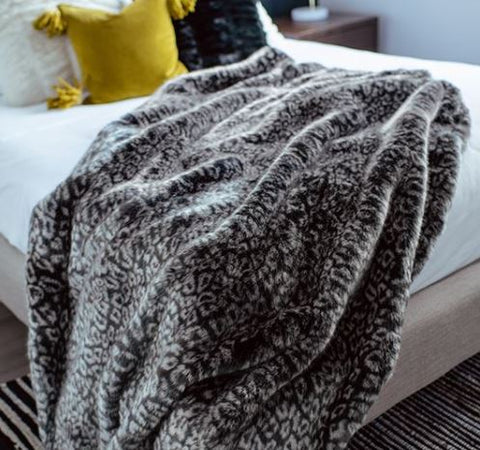 Grey Cheetah Couture Collection Throw - Fabulous Furs