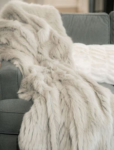 Grey Apres Mink Throw - Fabulous Furs