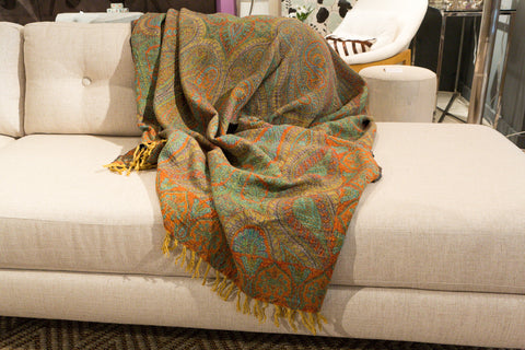 Feroza Boiled Wool Throw - Sabira Collection