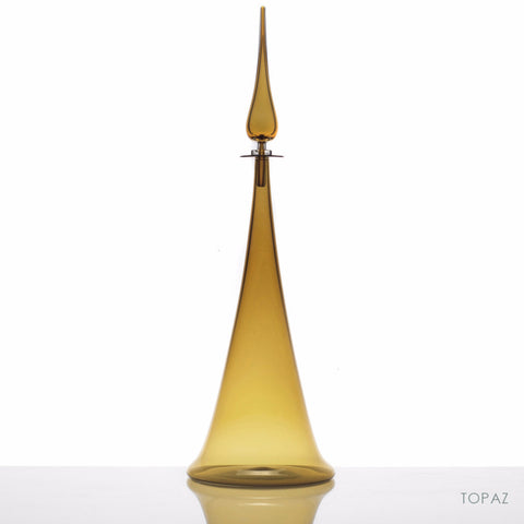 Fluted Cone Large Decanter, Topaz - Joe Cariati