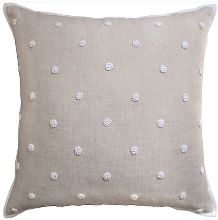 French Knot Flax Embroidery Pillow - Ryan Studio