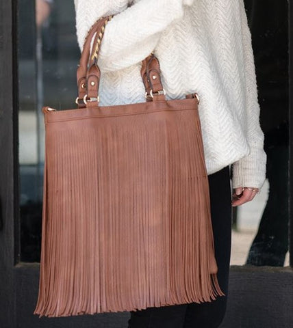 Brown Fringe Bag - Fabulous Furs