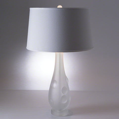 Frosted Bubble Lamp with Silk Shade - Studio A